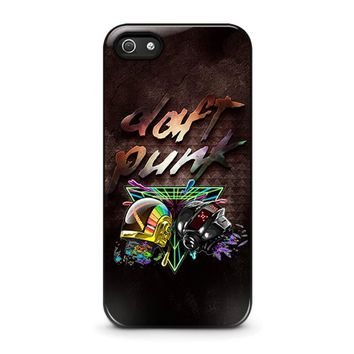 daft punk iphone 5 5s se case cover  number 1