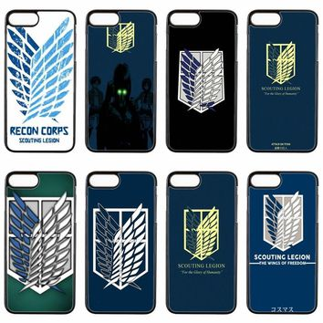 Cool Attack on Titan  Scouting Legion cover case For LG G2 G3 G4 Stylus G5 G6 Nexus 4 5 5x google 6 K10 2017 V20 phone case AT_90_11