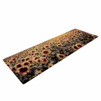 "Viviana Gonzalez ""Lone Tree & Sunflowers Field"" Sunny Nature Yoga Mat"
