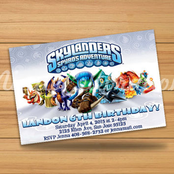 Skylanders Design Invitation 3 - Digital File