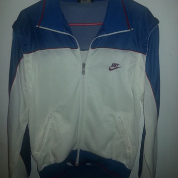 Vintage 80s Retro Nike Warm Up Windbreaker Jacket - Vest - Removable Sleeves - Size M