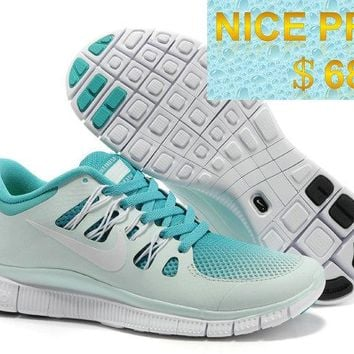 2018 Factory Authentic Nike Free 50 Breathe GS Sport Turquoise White Fiber Glass Platinum 580601 313 sneaker