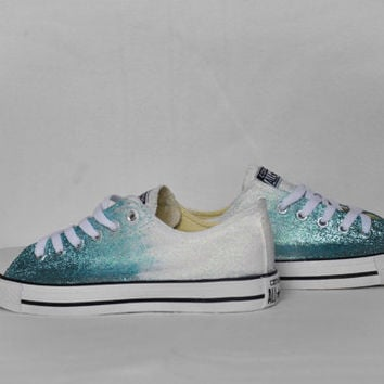 Converse shoes converse wedding shoes ombre converse all star converse customized custom converse glitter converse chuck taylor converse
