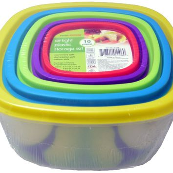 10Pc Food Container Set Case Pack 6