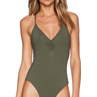 L*SPACE Wild Side Swimsuit in Olive