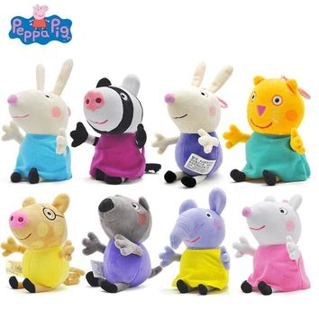 Peppa Pig 19cm Plush Toys Peppa George Family Stuffed Doll Peppa Friends Candy Danny Pedro Emily Birthday Gift For Kids Original