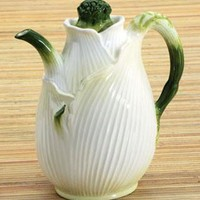 Fennel Jug Ceramic Kitchen Table Pitcher 6.75H