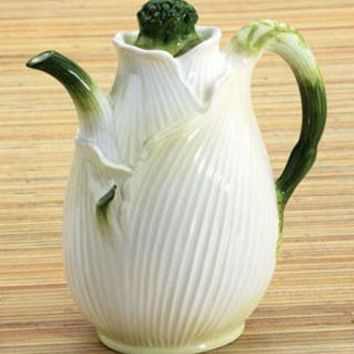 Fennel Jug Ceramic Pitcher 6.75H - 6221