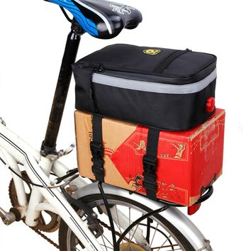 Cycling Rack Pack Bike Rear Seat Bag Cycling Bicycle Trunk Bag Pannier Bicycle Rear Outdoor Cycling Bike Rack Seat Bag