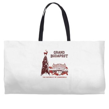 grand budapest hotel Weekender Totes