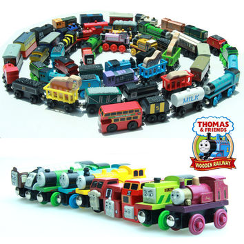10PCS  Thomas and His Friends Wooden Magnetic Trains Toy Model Great Kids Christmas Gifts Toys for Children