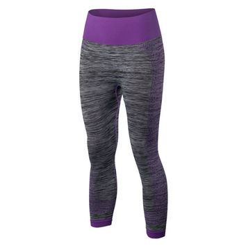 Outdoor Women's Fitness  YOGA Running Workout Gym Sport Pants Leggings Trousers Lady Slim Pant