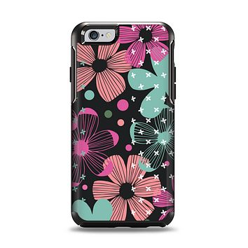 The Abstract Flower Arrangement Apple iPhone 6 Otterbox Symmetry Case Skin Set