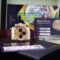 ROLEX - 18kt Gold DAYTONA 40mm Champagne Paul Newman Model 116518 SANT BLANC