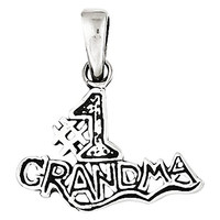 Sterling Silver 1 Grandma Pendant, Best Quality Free Gift Box Satisfaction Guaranteed