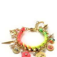 Multi Woven Charm Bracelet by Juicy Couture, O/S