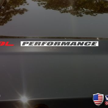 5.9L PERFORMANCE Hood Vinyl Decals Stickers Fits: Dodge Ram Cummins Diesel