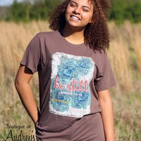 His Word Be Still Bible Journaling Tee