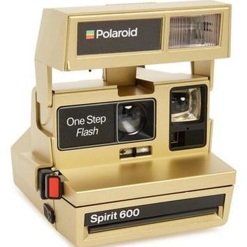 Polaroid 600 Goldtone Metallic Instant Camera