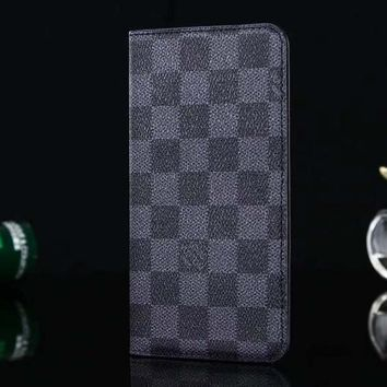 Louis Vuitton LV Leather Fashion iPhone Phone Cover Case For iphone 6 6s 6plus 6s-plus 7 7plus 8 8plus X-4