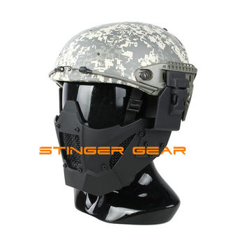 TMC Helmet Rail Jay Fast Mask Airsoft Mask Paintball Face Mask Black+Free shipping(SKU12050875)