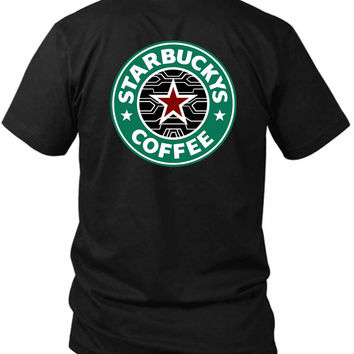Bucky Barnes The Winter Soldier Starbuck 2 Sided Black Mens T Shirt