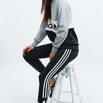 Adidas Three Stripe Leggings in Black - Urban Outfitters