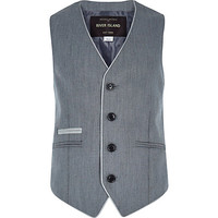 River Island Boys grey smart vest