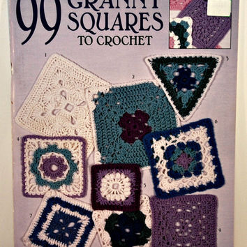 Leisure Arts 99 Granny Squares To Crochet Booklet (c.1998), Awesome Patterns, Great Instructions, Crocheting Project, Afghans, Gift Ideas