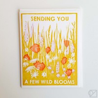 Sending You Blooms Greeting Card - Omoi Zakka Shop