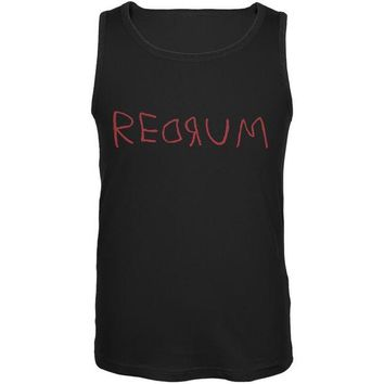 DCCKU3R Halloween Horror Redrum Black Adult Tank Top