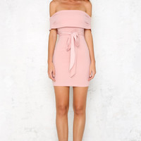 Sealed With A Kiss Dress Blush