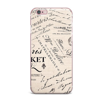 "Sylvia Cook ""French Script"" Handwriting iPhone Case"