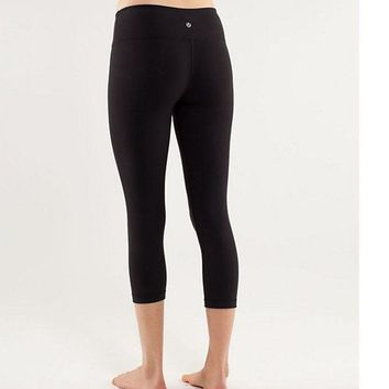 lululemon Fashion Print Exercise Fitness Gym Yoga Running Leggings Sweatpants-15
