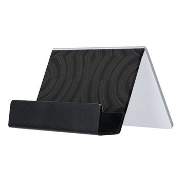 Sleek Black Minimalist Business Card Holder
