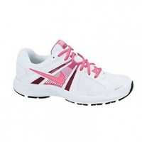 Nike Dart 10 Running Shoes - Women athletic sneakers (7.5) White/Fusion Pink/Silver/Digital Pink