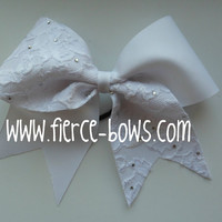 White On White Lace Bow