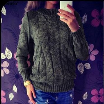 Women's Knitted Sweater 2017 Fashion Pullover Sweater