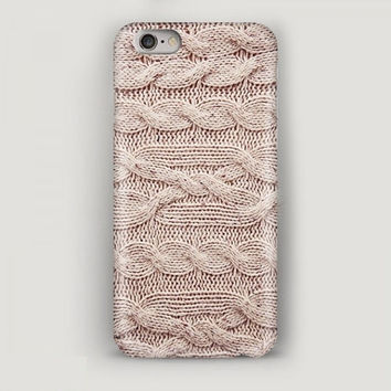 iPhone 6 Case Knitted Texture, Beige iPhone 6 Plus Case, iPhone 5s Case, iPhone 5c Case, iPhone 4 Case, Cozy Phone Case