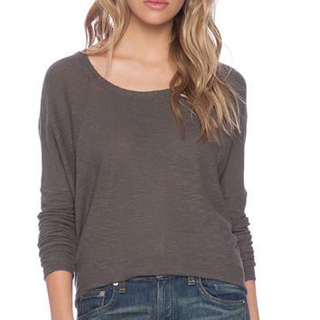 American Vintage Bakersfield Long Sleeve Shirt in Taupe