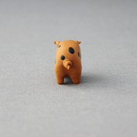 polymer clay pig oxford sandy and black pig figurine miniature pig totem