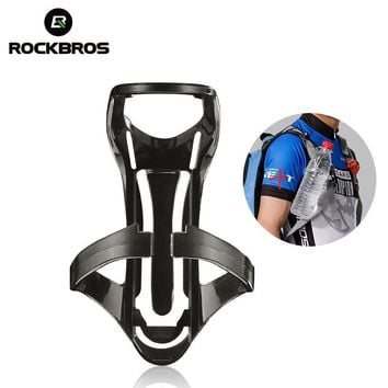 ROCKBROS Hiking Water Bottle Cup Holder Bag Remove Backpack Outdoor Camping Climbing Bottle Cage Base MTB Bike Bags Accessories