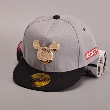 bff202d015aba Durable 2016 New Men s Cap flat-brimmed Mickey hat baby kids baseball cap  hip-