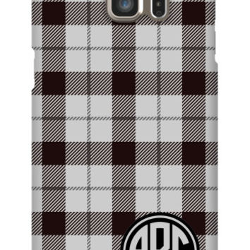 Plaid Monogram Galaxy S6 Edge Plus Slim Case