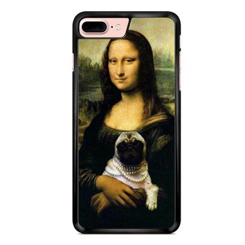 Mona Lisa Pug iPhone 7 Plus Case