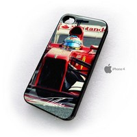 Fernando Alonso F1 Champion Ferrari Team iPhone 4 4s 4g Case from gpfans