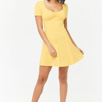 Ruched Fit & Flare Mini Dress