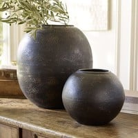 HAMMERED BRONZE URNS