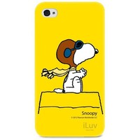 iLuv iCP751SYEL Peanuts Character Hardshell Case for iPhone 4/4S (Snoopy)-Yellow