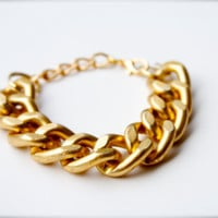 Large Chunky Gold Chain Bracelet